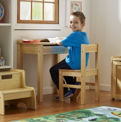 Traditional Wood Desk and Chair Set for Children from Melissa and Doug