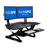 FlexiSpot 41 in. Corner Cubicle Standing Desk Converter