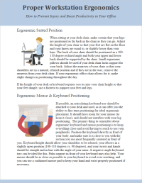 Ergonomics PDF for Office HR Departments