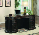 Coaster Rowan Traditional Oval Executive Double Pedestal Writing Desk
