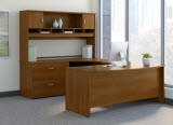 Bush Business Furniture Series C U Shaped Desk with Hutch & Storage