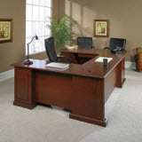 Sauder Heritage Hill Executive U-Desk in Cherry