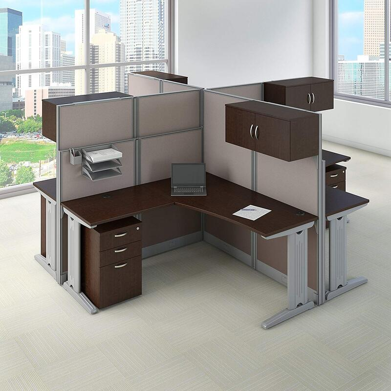 Office Table For 4 Person: 10 Best 4 Person Workstations & 4 Person Cubicles 2019