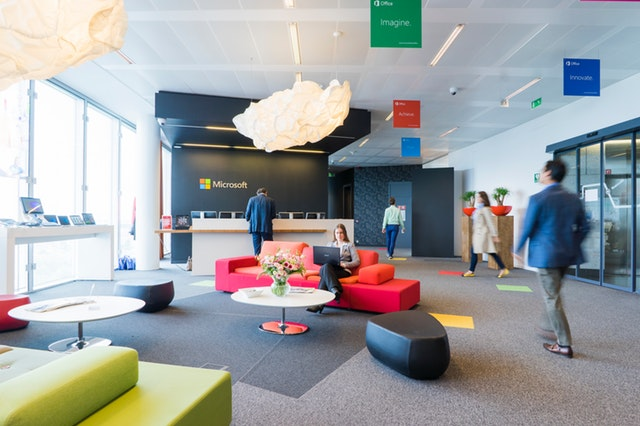 Fun Yet Professional Office Design at Microsoft